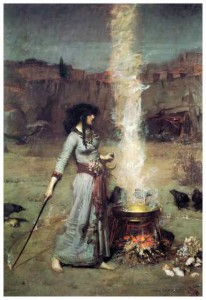 magic-circle-1886-john-william-waterhouse