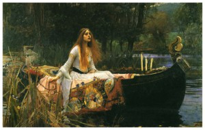 The lady of the shalott. William Waterhouse 1888